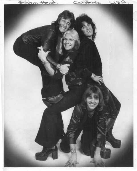 Rock Group SteamHeat 1974 L.A.