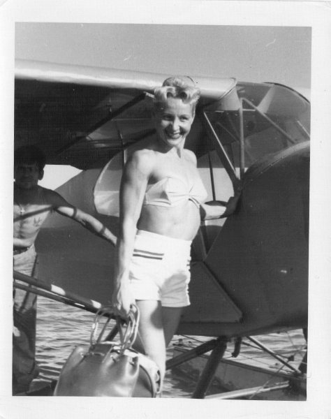 My-mother-and-my-fathers-seaplane-1957Joe-Demaggio